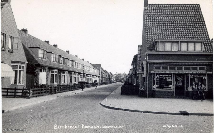 Bernardus Bumastraat gezien vanaf Achter de Hoven.