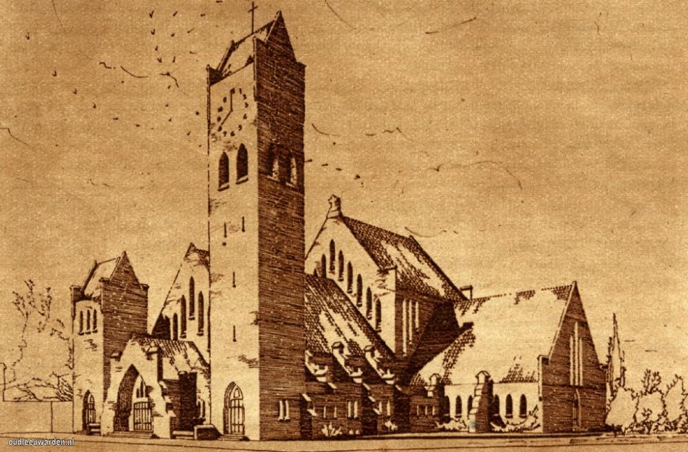 Huizumerlaan Sint Johannes de Doperkerk 1933
